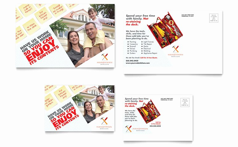 Free Handyman Flyer Templates Luxury Handyman Services Postcard Template Word & Publisher