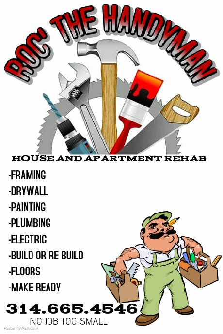 Free Handyman Flyer Templates New Handyman Flyer Template