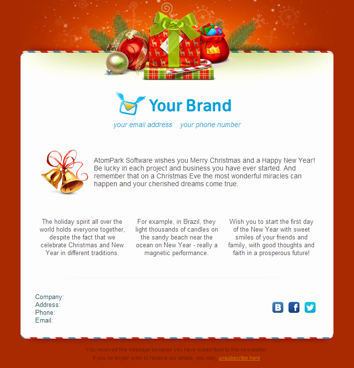 Free Holiday Email Templates Best Of Christmas Email Templates for Free 2014 From atompark software
