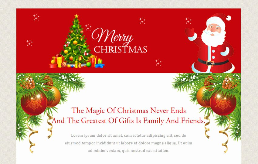 Free Holiday Email Templates Fresh Merry Christmas A Newsletter Responsive Web Template W3layouts