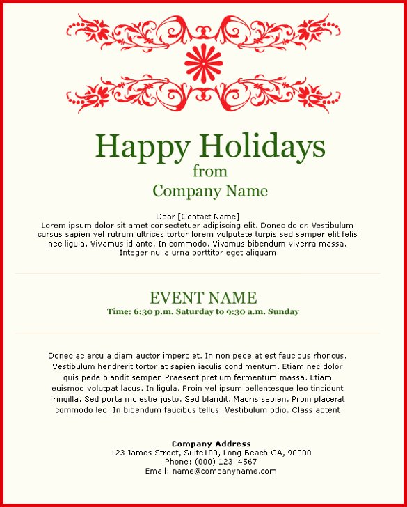 Free Holiday Email Templates Inspirational 11 Exceptional Email Invitation Templates Free Sample Example format Downlaod