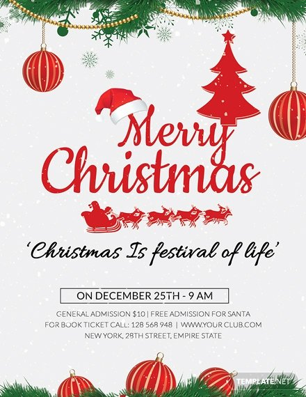 Free Holiday Flyer Template Beautiful 27 Free Christmas Flyer Templates Word Psd Indesign Apple Pages