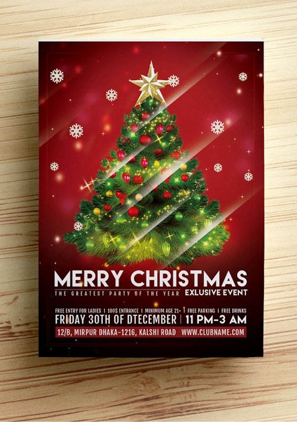 Free Holiday Flyer Template Best Of Free Christmas Party Flyer Templates Stockvault Blog