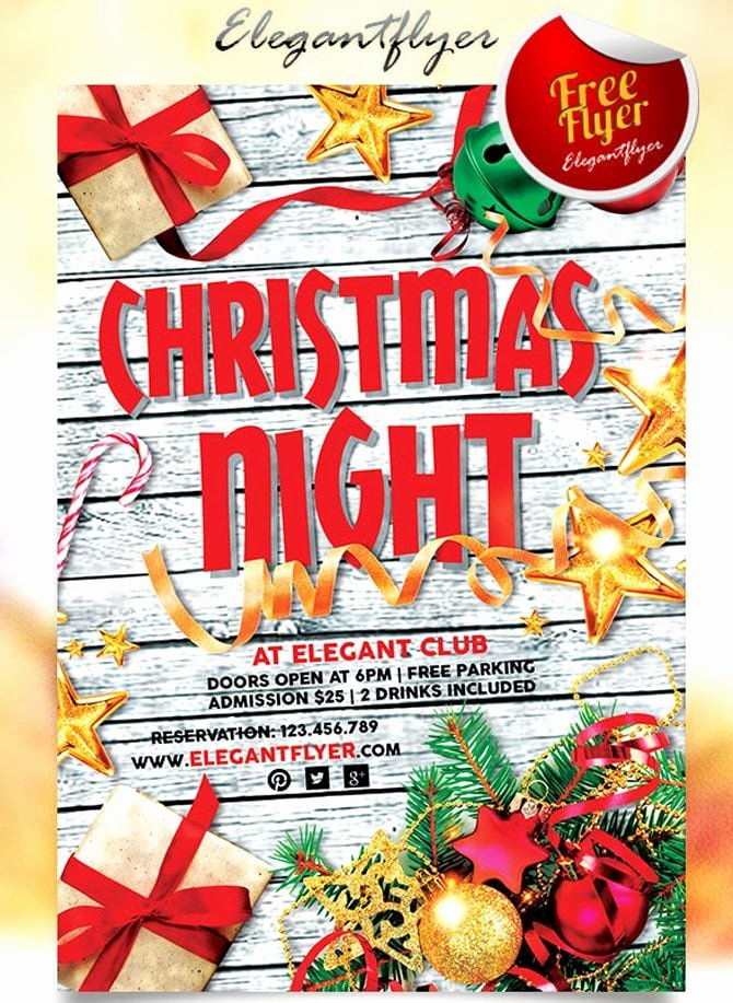 Free Holiday Flyer Template Elegant 30 Free Christmas and New Year Psd Promo Flyers