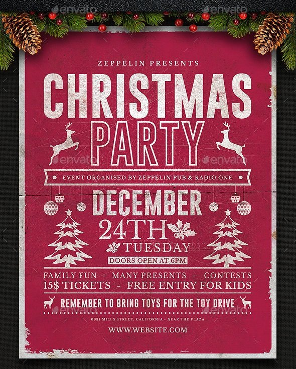 Free Holiday Flyer Template Fresh 33 Christmas Flyers Psd Vector Eps