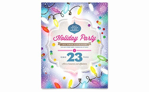 Free Holiday Flyer Template Inspirational Free Flyer Templates