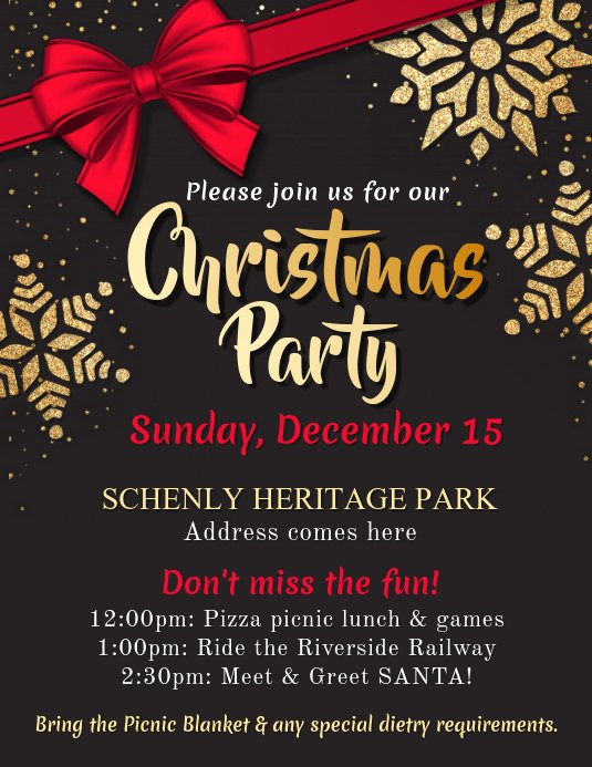 Free Holiday Flyer Template Unique Christmas Party Flyer Template