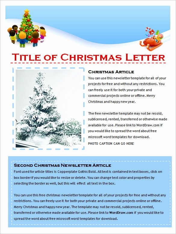 Free Holiday Letter Templates Beautiful 9 Holiday Newsletter Templates – Free Word Documents Download