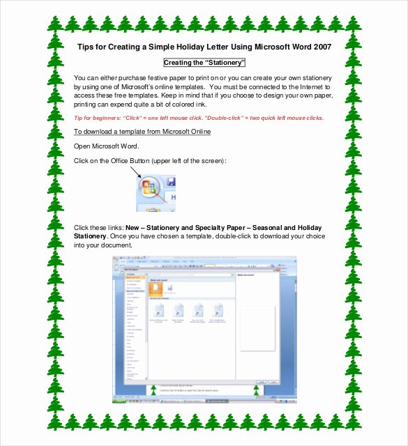 Free Holiday Letter Templates Elegant 23 Holiday Letter Templates – Free Sample Example format Download