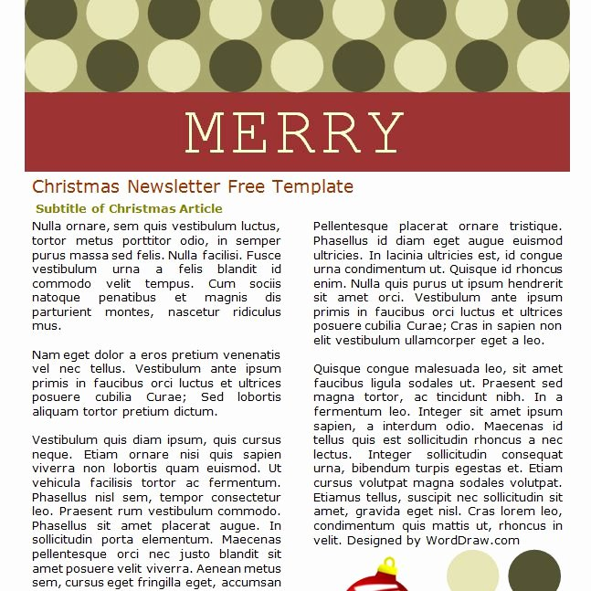 Free Holiday Letter Templates Inspirational 7 Free Christmas Letter Templates and Newsletter Ideas