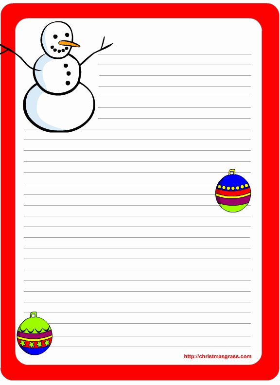 Free Holiday Letter Templates Lovely Free Printable Christmas and Holiday Stationery
