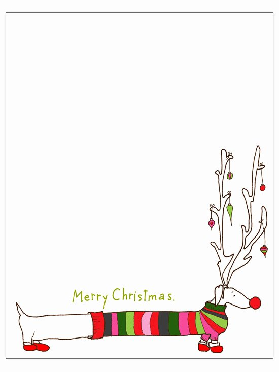 Free Holiday Letter Templates Lovely Long Dog Christmas Letter Template Engaged In Art Classes