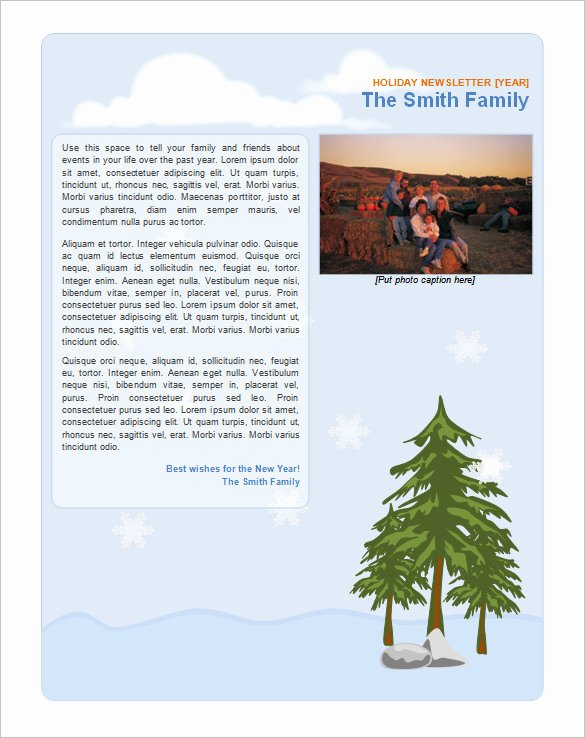 Free Holiday Letter Templates Luxury 9 Holiday Newsletter Templates – Free Word Documents Download