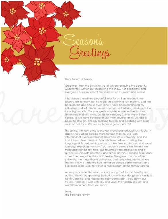 Free Holiday Letter Templates New Holiday Letter Template – 16 Free Word Pdf Psd format Download