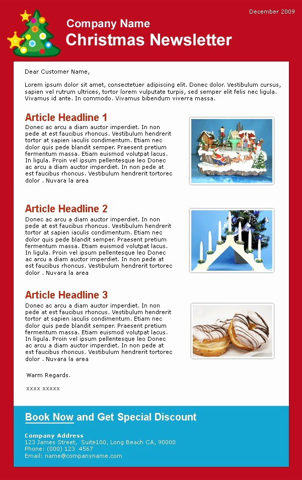Free Holiday Newsletter Templates Best Of 45 Free Email HTML & HTML5 themes & Templates