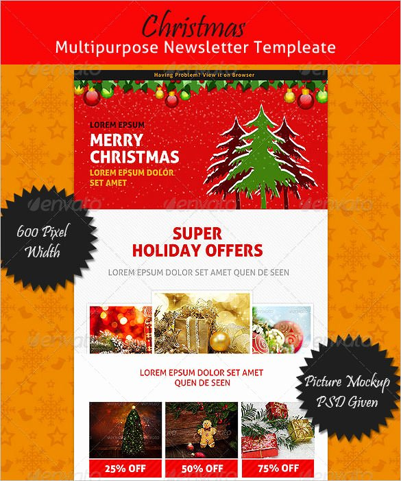Free Holiday Newsletter Templates Best Of Free Christian Christmas Newsletter Templates – Festival