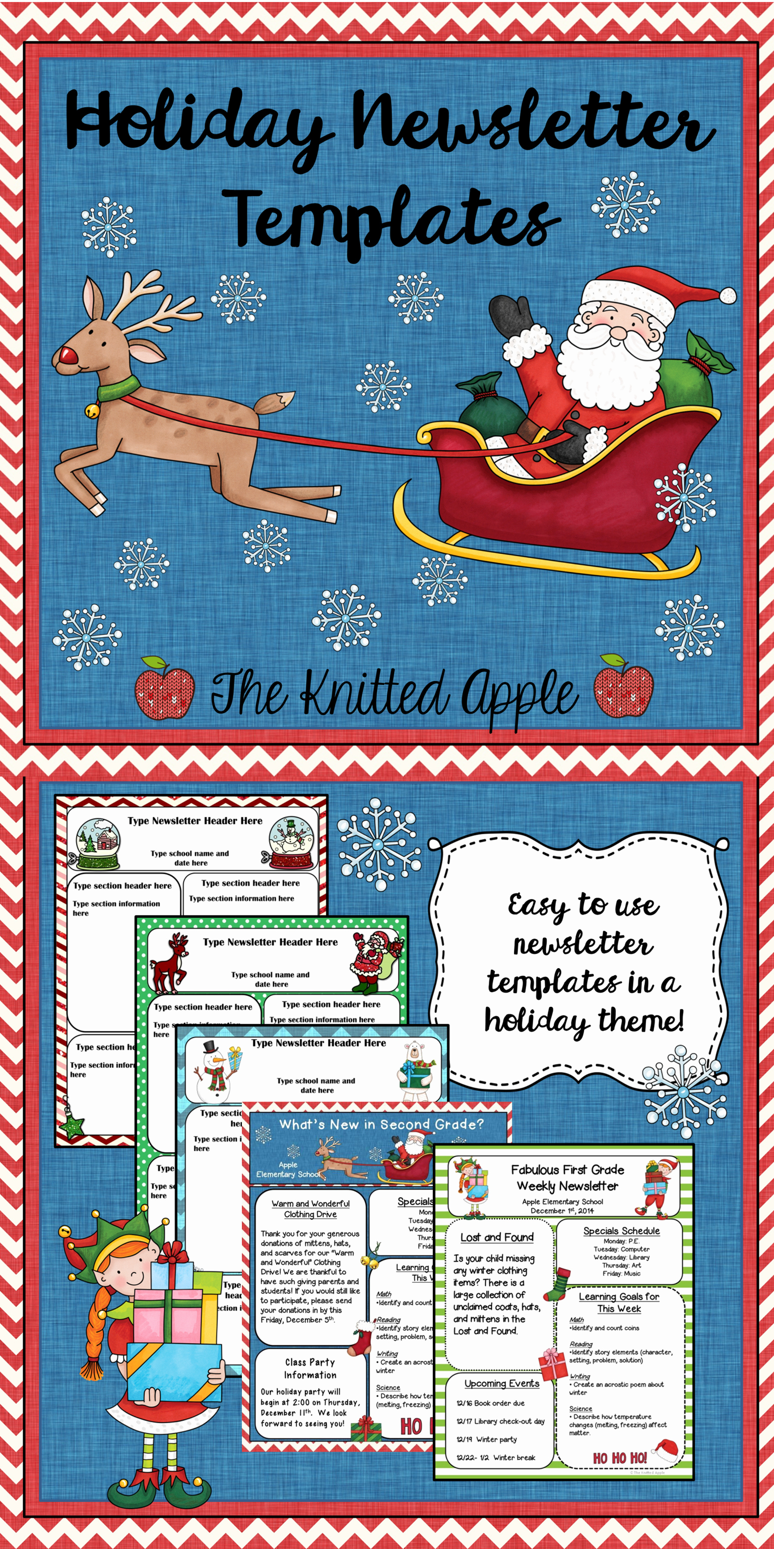 Free Holiday Newsletter Templates Fresh Free Newsletter Templates In A Festive Holiday theme