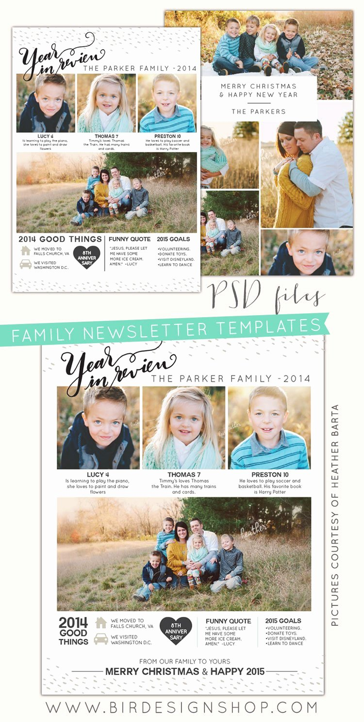 Free Holiday Newsletter Templates Luxury Free Photoshop Year In Review Newsletters