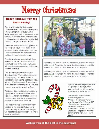 Free Holiday Newsletter Templates Luxury Ms Word Christmas Newsletter Template Candy Cane Design