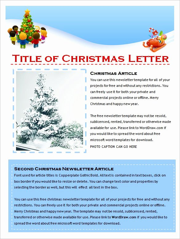 Free Holiday Newsletter Templates New 27 Microsoft Newsletter Templates Doc Pdf Psd Ai