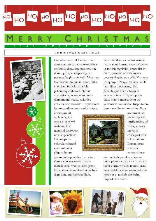 Free Holiday Newsletter Templates New Download Free software Pages Holiday Newsletter Templates