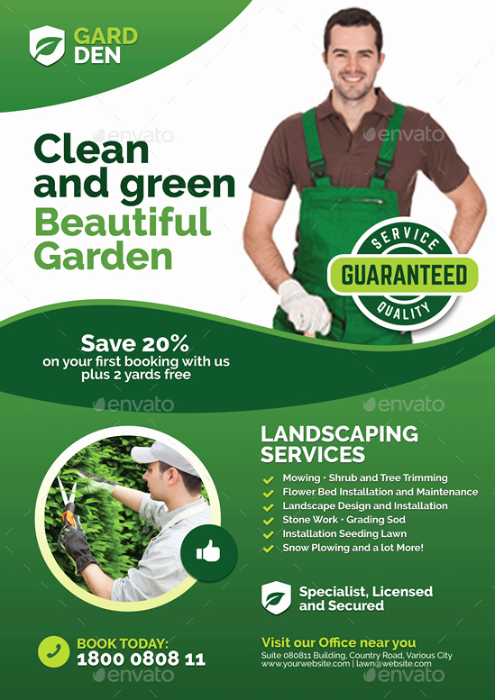 Free Landscaping Flyer Templates Awesome Landscaping and Lawn Care Flyer by Lawn Care Flyers