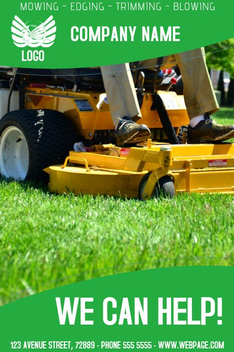 Free Landscaping Flyer Templates Awesome Lawn Service Flyer Template