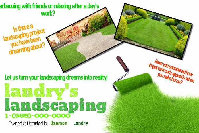 Free Landscaping Flyer Templates Inspirational Create Lawn Care Business Flyers It S Easy