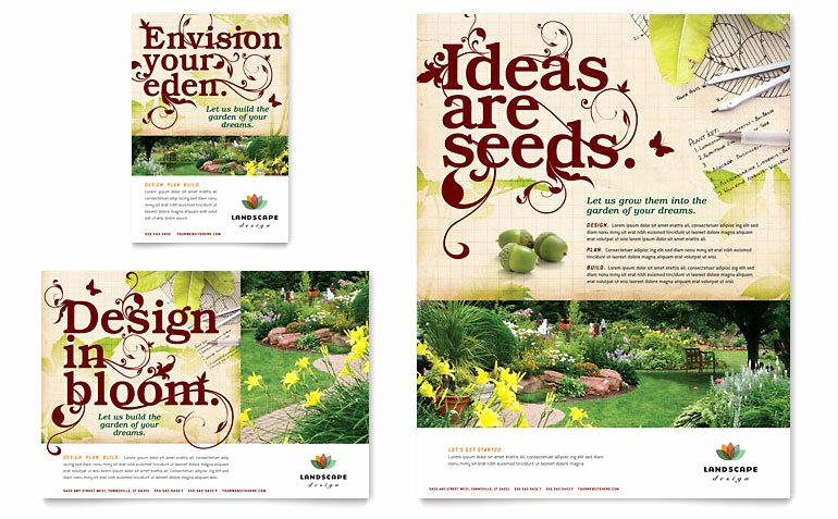 Free Landscaping Flyer Templates Inspirational Landscape Design Flyer & Ad Template Word & Publisher