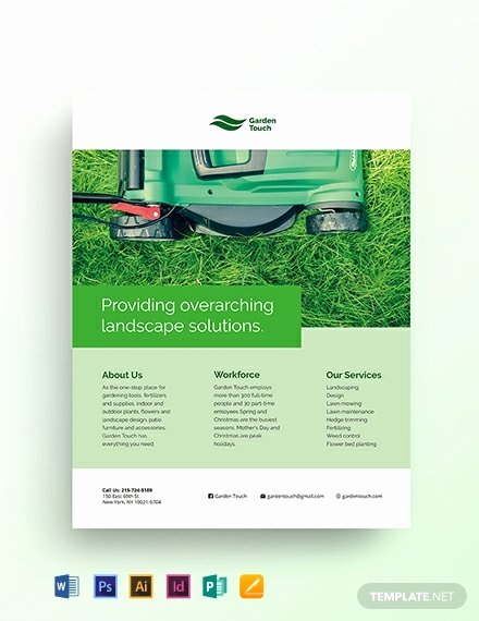 Free Landscaping Flyer Templates New 767 Free Word Flyer Templates Download Ready Made
