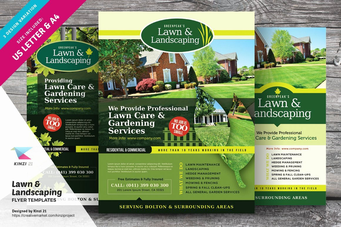 Free Landscaping Flyer Templates New Lawn & Landscaping Flyer Templates Flyer Templates Creative Market