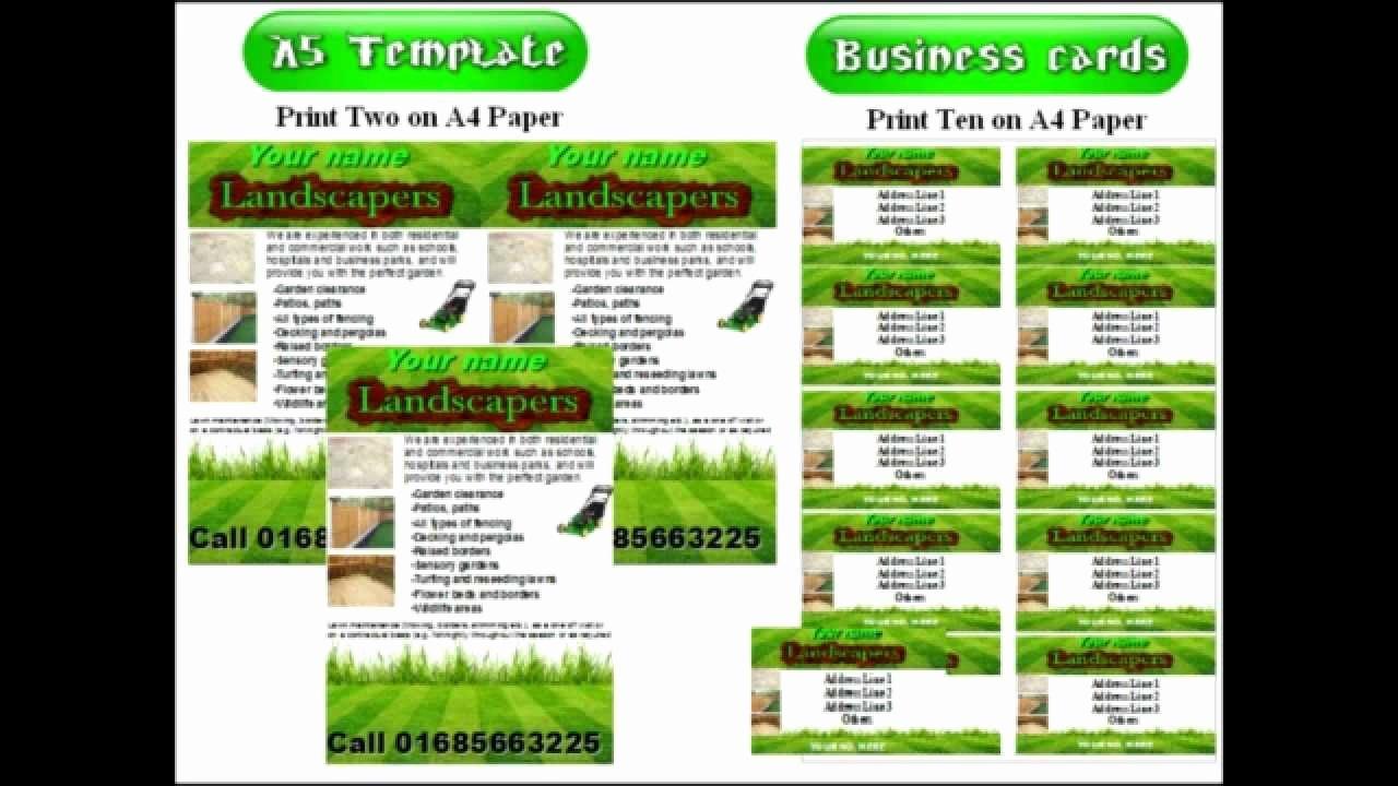 Free Landscaping Flyer Templates Unique Landscape Gardening Leaflets Flyer Template