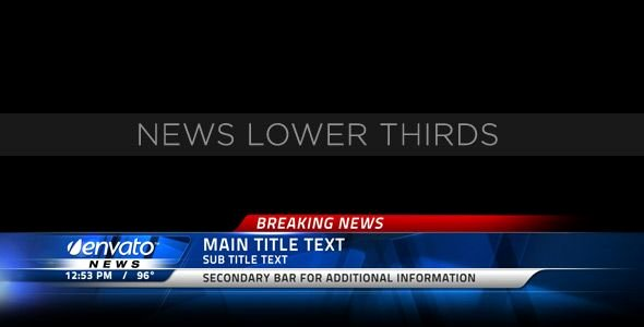 Free Lower Third Templates Photoshop Elegant Broadcast News Lower Thirds