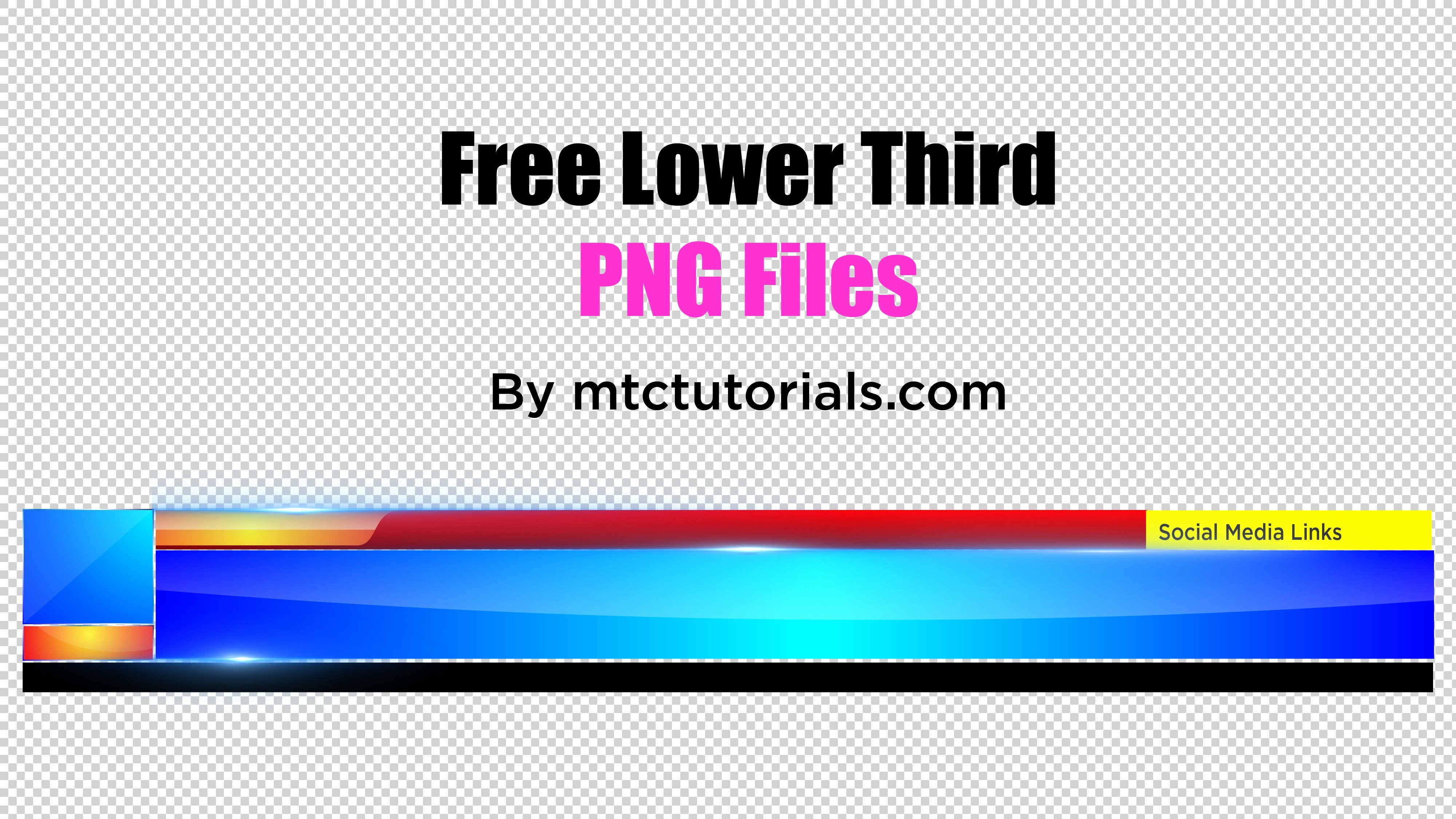 Free Lower Third Templates Photoshop Inspirational Royalty Free Professional Lower Third S Png Free Lower Third Templates Mtc Tutorials Mtc