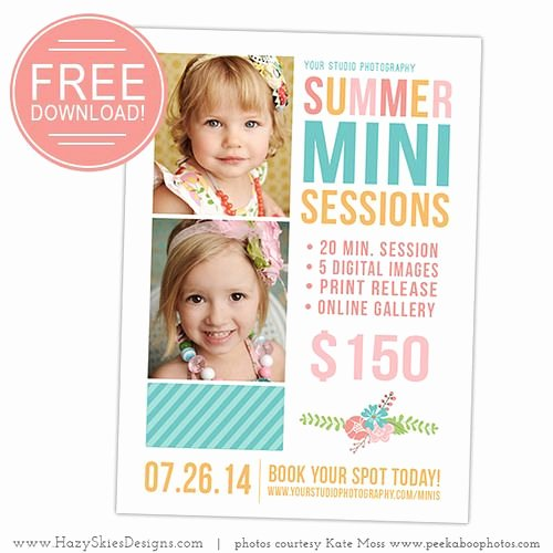 Free Marketing Templates for Photographers Best Of Free Mini Session Graphy Marketing Template