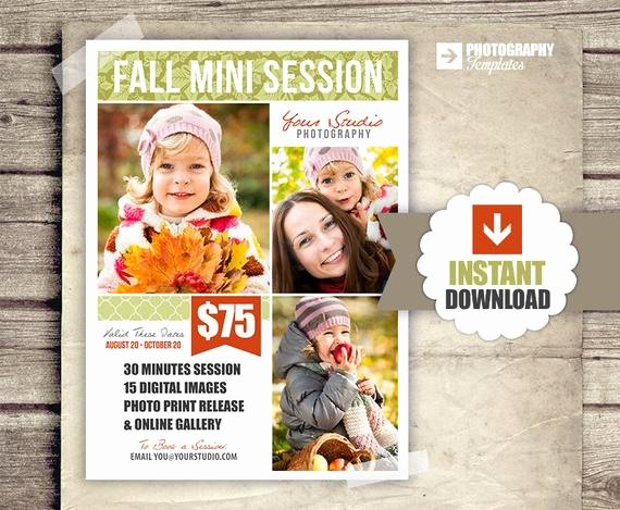 Free Marketing Templates for Photographers Elegant Fall Graphy Marketing Board 5x7 Mini Sessions Psd Newsletter Template Autumn Mini