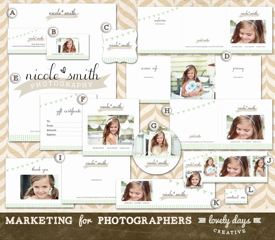 Free Marketing Templates for Photographers Inspirational Graphy Marketing Templates Branding Set for Photographers