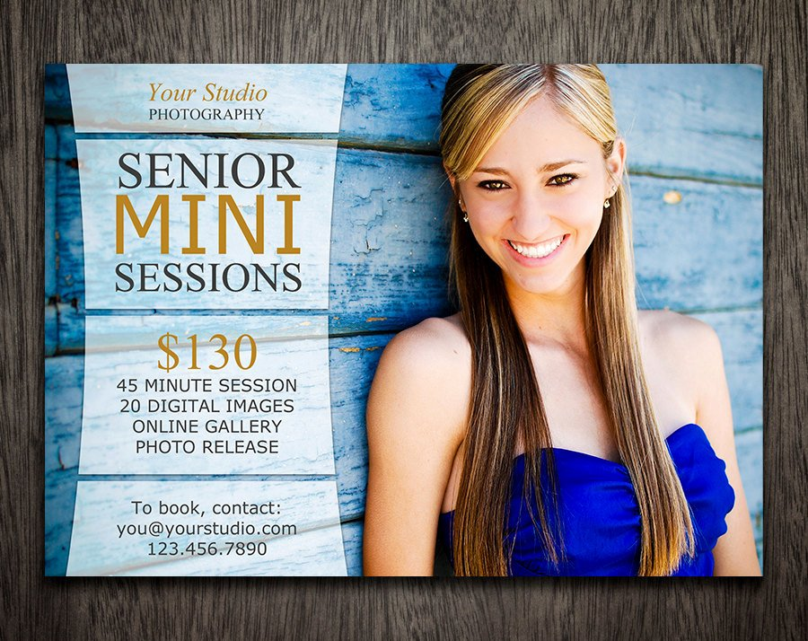 Free Marketing Templates for Photographers New Graphy Marketing Board Template Senior Mini Session