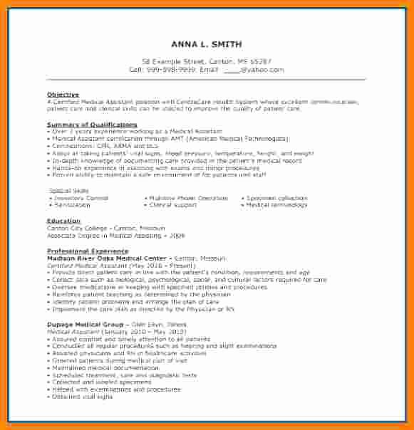 Free Medical assistant Resume Templates Fresh 6 Cv Of Medical assistant Training Course