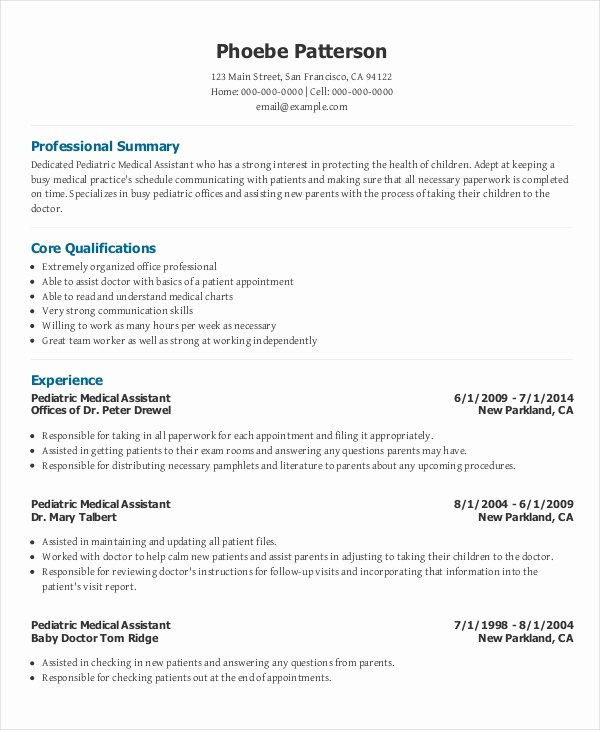 Free Medical assistant Resume Templates Unique 10 Medical Administrative assistant Resume Templates