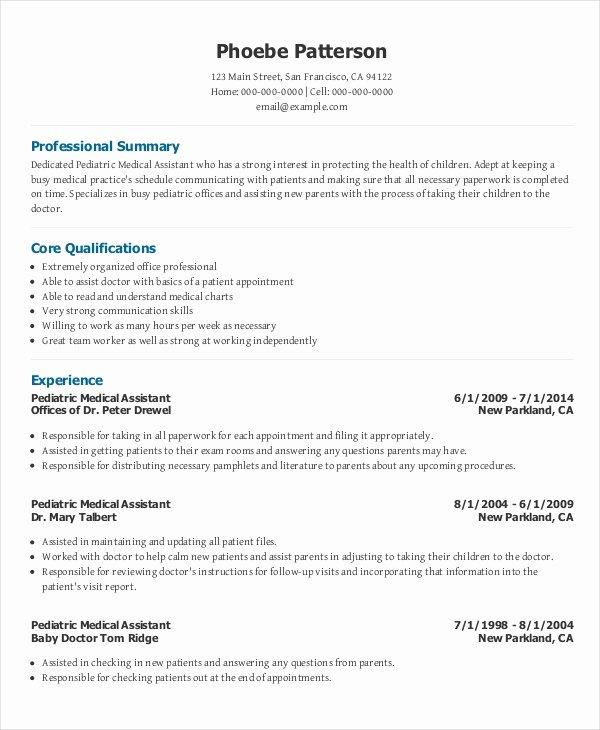 Free Medical assistant Resume Templates Unique 10 Medical Administrative assistant Resume Templates