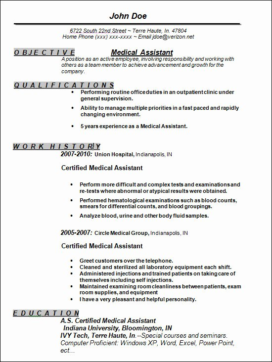 Free Medical assistant Resume Templates Unique Free 13 Sample Resume Templates In Doc