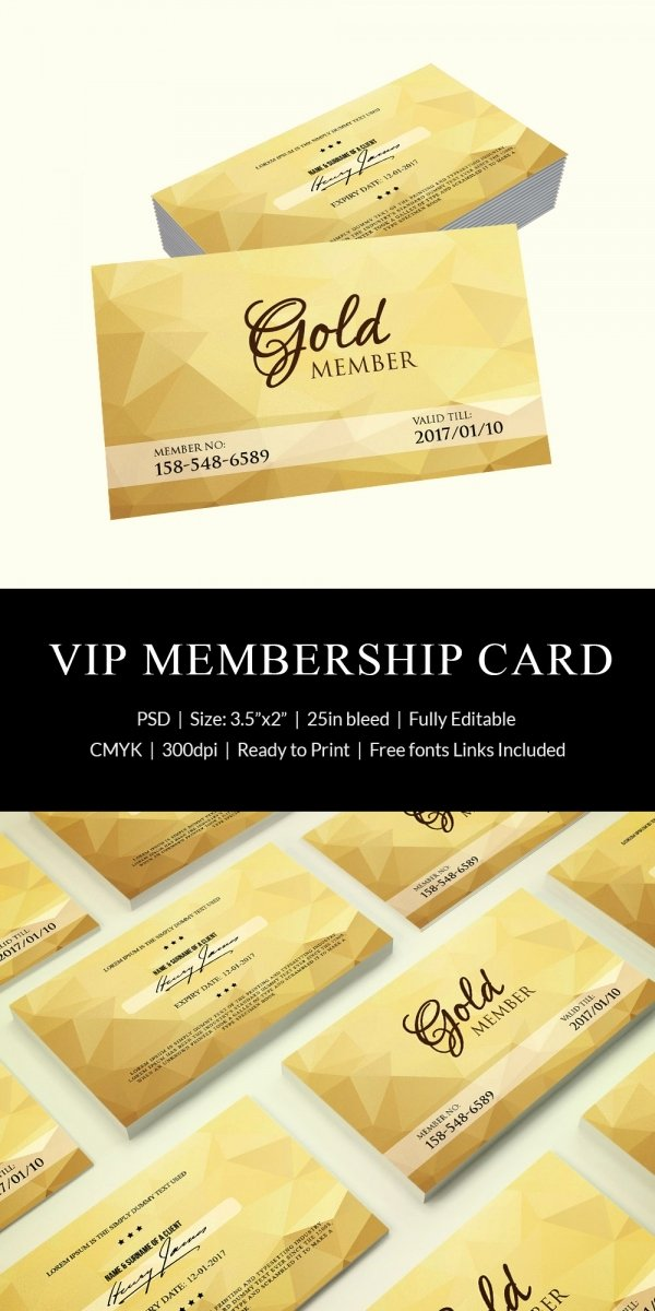 Free Membership Card Template Elegant 35 Membership Card Designs & Templates