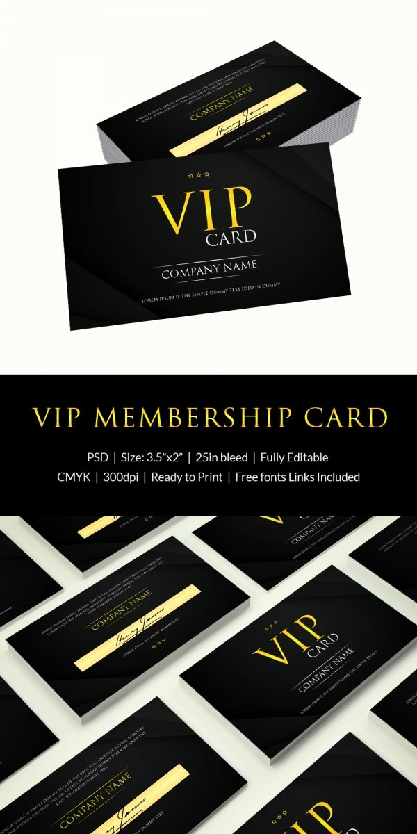 Free Membership Card Template Elegant 35 Membership Card Templates