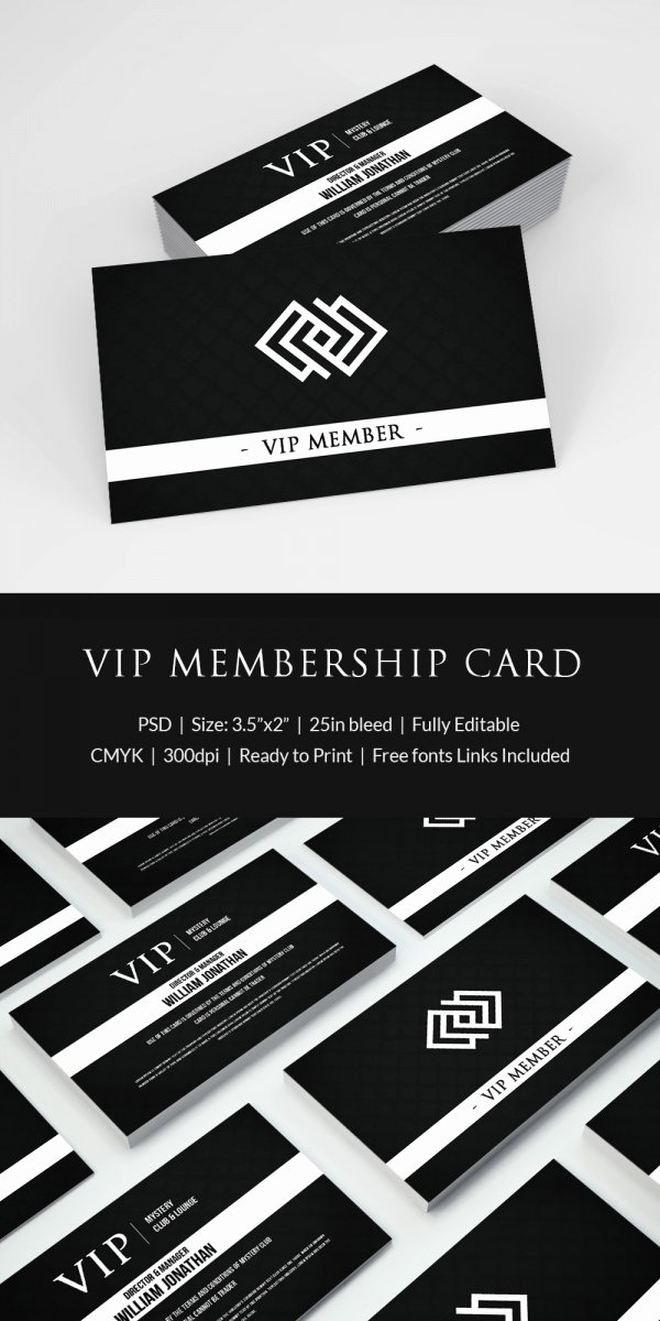 Free Membership Card Template Luxury 35 Membership Card Designs & Templates