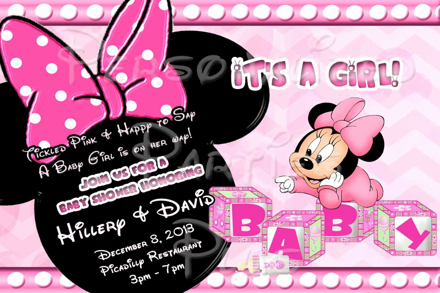 Free Minnie Mouse Invitations Best Of Baby Minnie Mouse Baby Shower Invitations