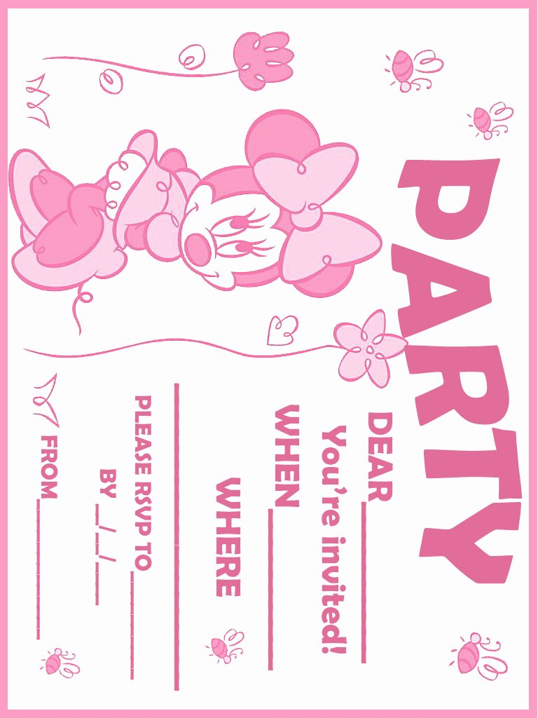Free Minnie Mouse Invitations Lovely Printable Minnie Mouse Birthday Invitations – Free