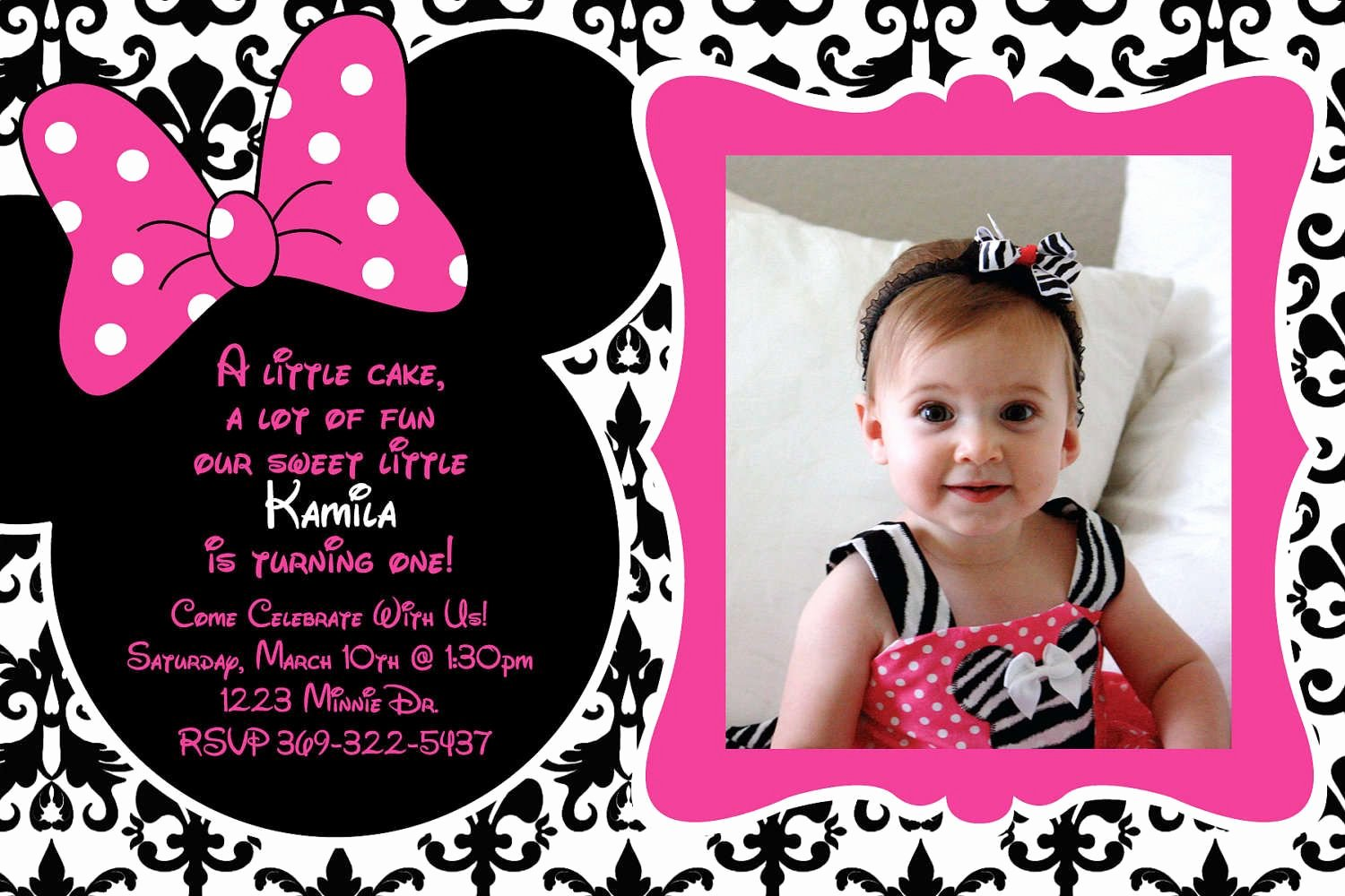 Free Minnie Mouse Invitations New Free Birthday Invitation Templates Minnie Mouse