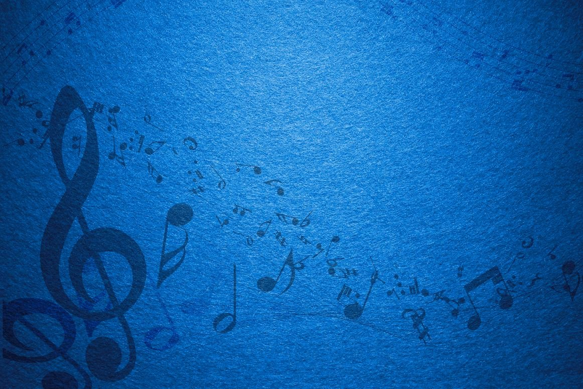 Free Music Background Images Beautiful Blue Music Notes Background Hdx