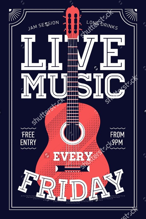Free Music Poster Templates Elegant 18 Music Poster Templates Free Psd Ai Vector Eps format Download